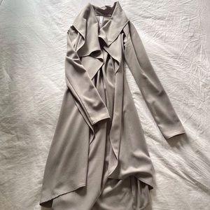 Mendocino Long Wrap Lightweight Jacket - grey